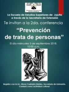 poster conferencia prevencion de trata de personas