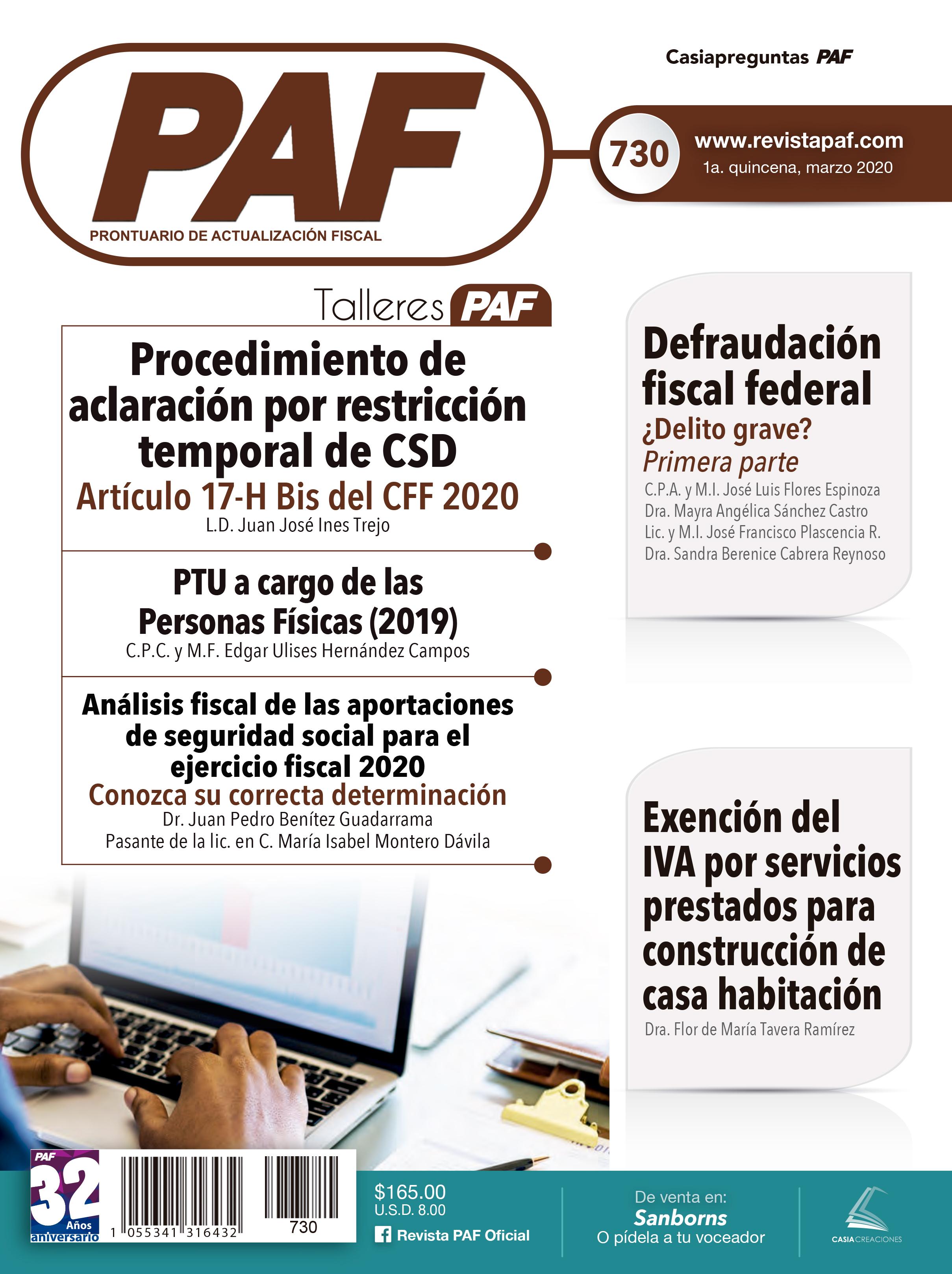 Revista PAF Marzo 2020-1